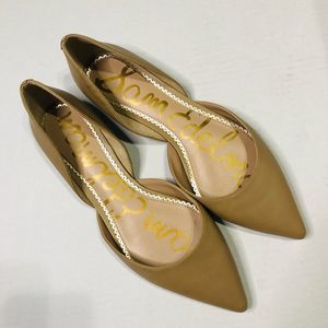 Sam Edelman Rodney Pointed Toe Flats Nude Leather
